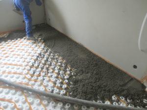 Betonáž na podlahové topení
