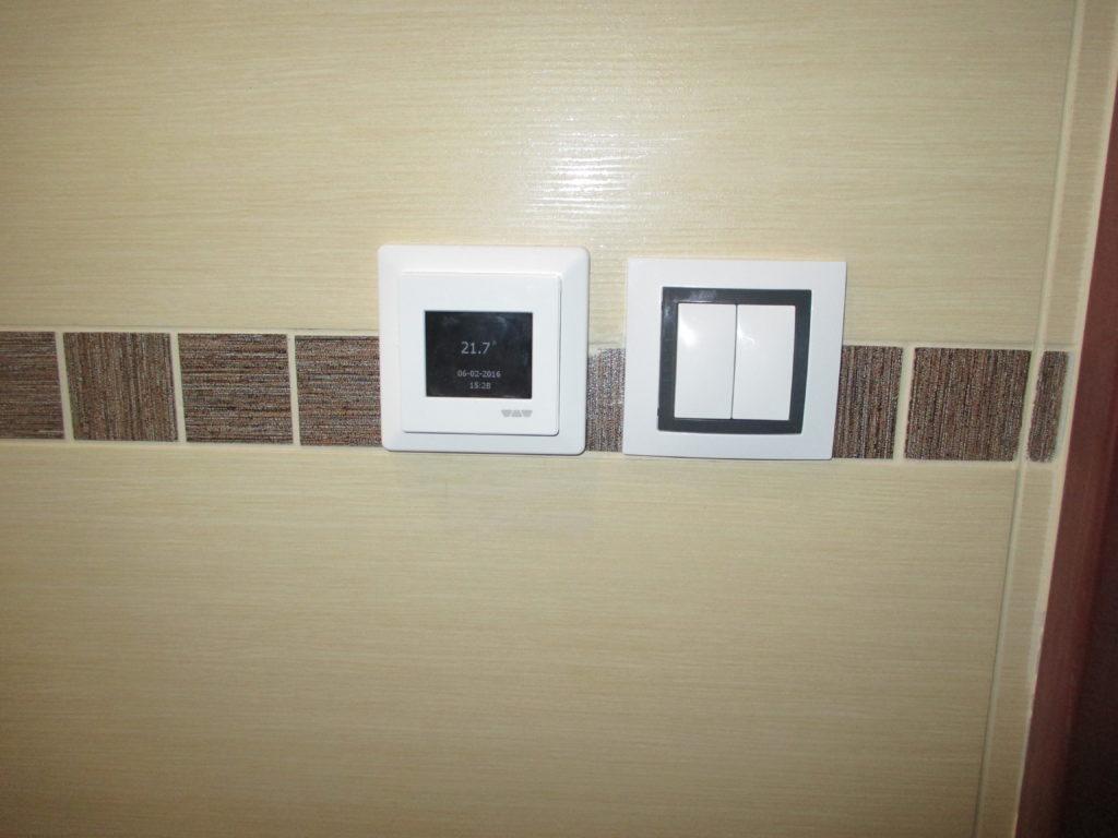 Montáž dotykového termostatu DITRA-HEAT