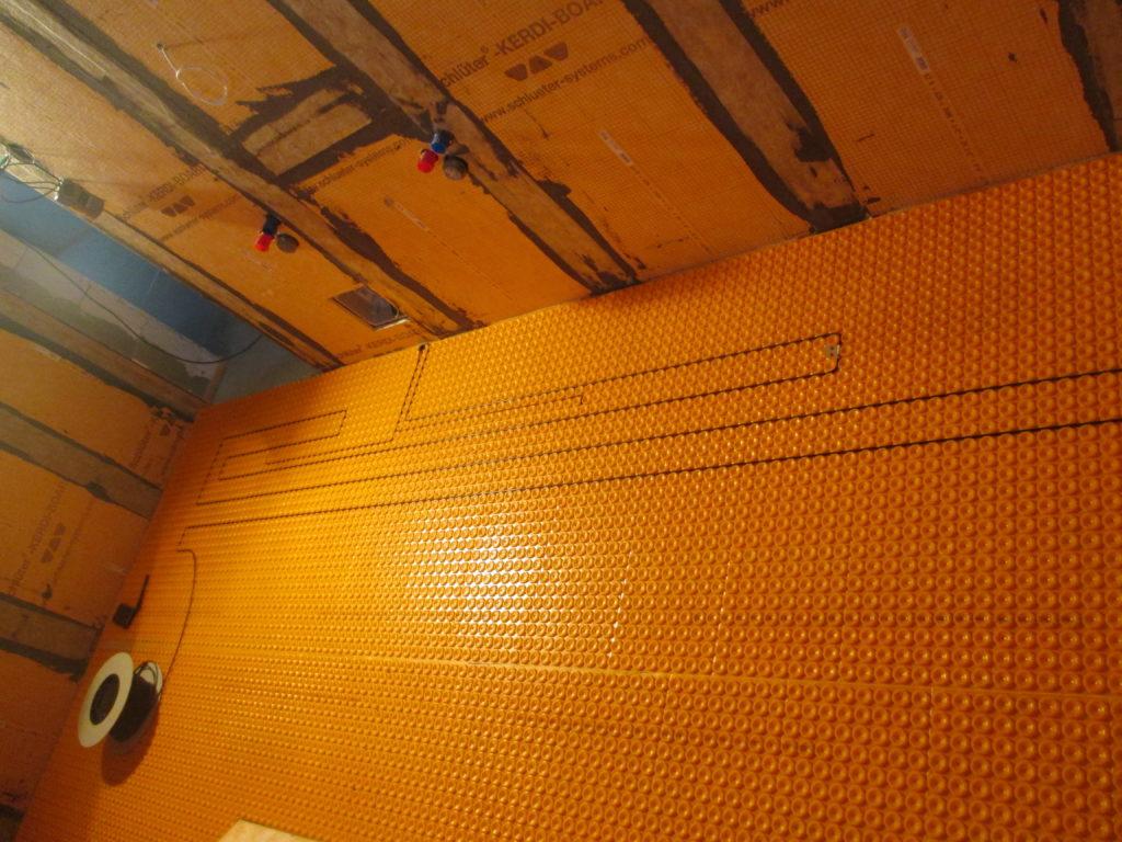 Montáž topného kabelu DITRA-HEAT